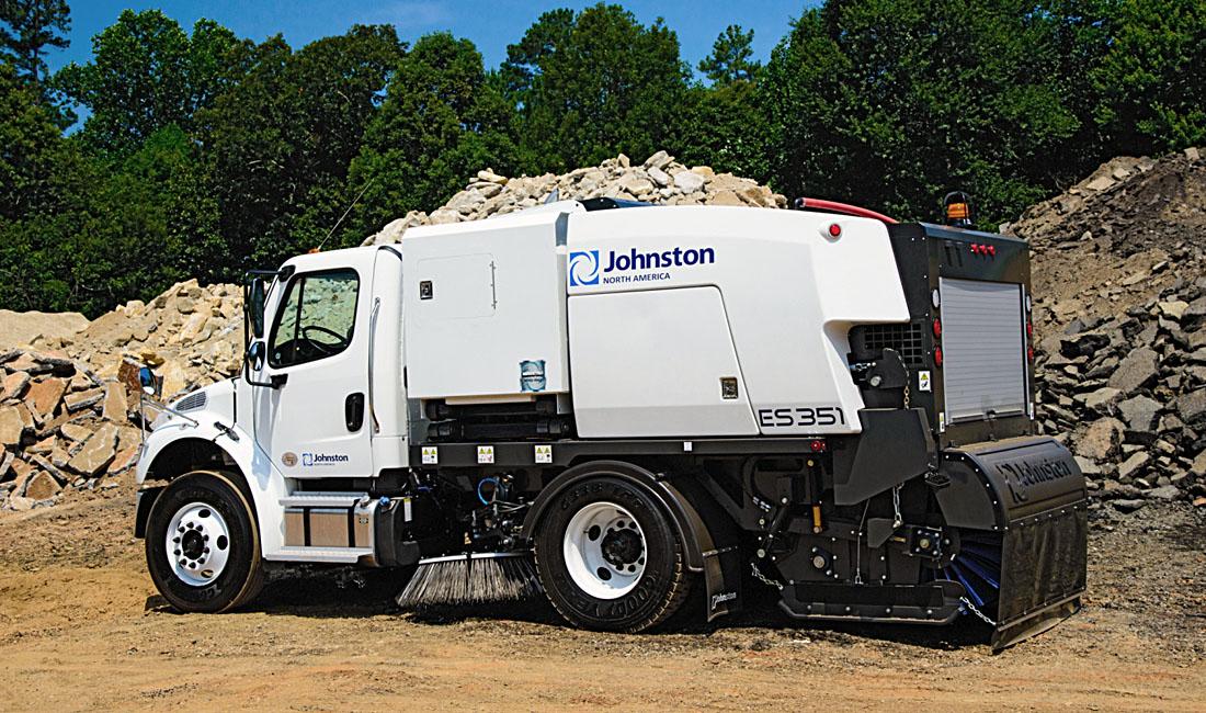Johnston ES351 - Industrial Vehicle Design - Launch Photograph