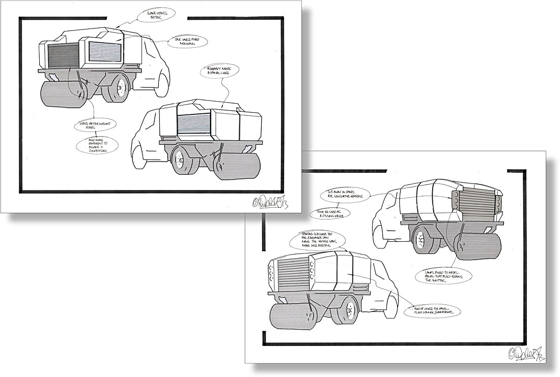 Johnston ES351 - Industrial Vehicle Design - Styling Sketches